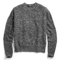 Black Twist Crew Sweater
