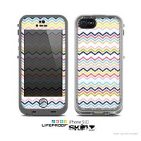 The Multi-Lined Chevron Color Pattern Skin for the Apple iPhone 5c LifeProof Case
