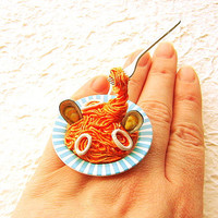 Kawaii Cute Japanese Food Ring Floating Ring by SouZouCreations