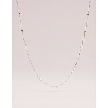 Sterling Silver Beaded  Chain - 18 inch