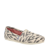 TOMS Grey Ikat Flat Shoes