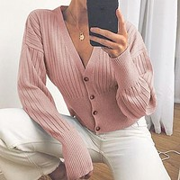Knitted Women Sweater Cardigans Button Casual Sweater Cardigan Ladies Knitwear Cardigans