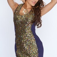 Navy Multi Sequin Sexy Party Dress @ Amiclubwear sexy dresses,sexy dress,prom dress,summer dress,spring dress,prom gowns,teens dresses,sexy party wear,women's cocktail dresses,ball dresses,sun dresses,trendy dresses,sweater dresses,teen clothing,evening c
