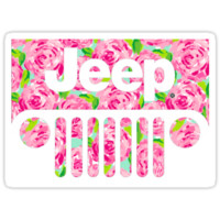 'Lily Pulitzer Jeep ' Sticker by acorcoran21