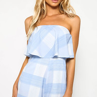 Expectations Playsuit - Blue Print