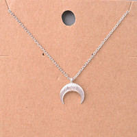 Luna Belle Dainty Silver Crescent Moon Necklace