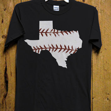 Texas Baseball T-Shirt - Texas Rangers T-Shirt - Funny T-Shirt - Baseball Design for Men T-Shirt (Various All Color Available)