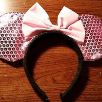 Pink Disney Mickey Mouse ears