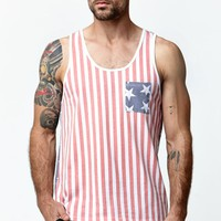 Wellen Fourth Of July Tank Top - Mens Tee - Red
