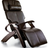 Zero Gravity Chair Inner Balance Recliner with Vibration Massage - Espresso Electric Power Recline ZG551 with Steel and Wood Base - The Zero Anti Gravity Chair ZG 551