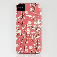 Go Orient Cherry Blossoms iPhone Case by Manuela | Society6