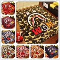 HCXX WGM Bape Shark  Fleece Blankets
