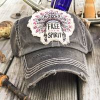 FREE SPIRIT HEADDRESS Patchwork Vintage Women's Hat