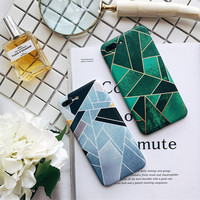 Geometric Cut Patchwork gird Case For iPhone 7 7plus 6 6s 6 Plus 6s Plus Triangle Simple Design back cover -0317