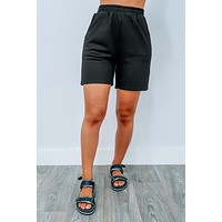 Reach For It Jogger Shorts: Black