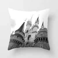 Disney Castle Throw Pillow by AMarloweCanPrint | Society6