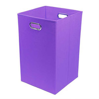 Color Pop Solid Purple Folding Laundry Bin