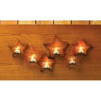 Iron Cutout Star Tealight Wall Sconce