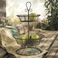 Home Essentials & Beyond 65043 French Wire 2 Tier Stand
