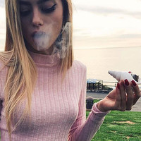 The Phantom - Seashell Smoking Pipe by OceanTokes - Shell Alternative to Glass Pipes