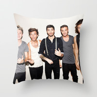 One Direction Throw Pillow by Max Jones | Society6