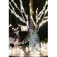 """26"""" Tall LED Light Branches w/ 60+ Warm White Bulbs (In/Outdoor Use)"""