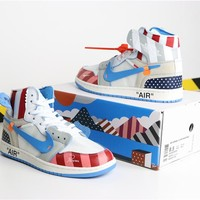 "Parra x OFF-WHITE x Air Jordan 1 ""Parra"""