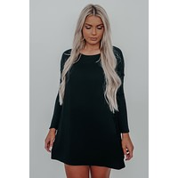 Casually Comfy Dress: Black