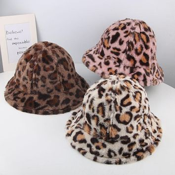 Baby Fisherman Hat Autumn And Winter Boys And Girls Children's Hats Warm Leopard Personalized Baby Pot Hat