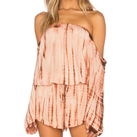 Life's A Beach Romper in Agave Sunset
