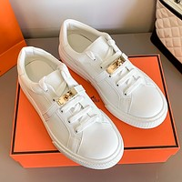 Hermes new white shoes