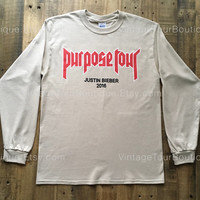 Justin Bieber Purpose Tour Shirt My Mama Don't Like You Long Sleeve Tee