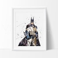 Batman Begins Watercolor Art Print