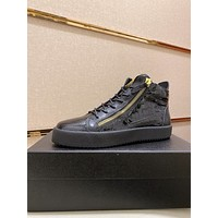 GIUSEPPE ZANOTTI  Men Fashion Boots fashionable Casual leather Breathable Sneakers Running Shoes 12