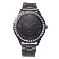 Women Men Watches Stainless Steel Rhinestone Band Top Luxury Analog Crystal Watch Relogio CF