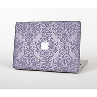 """The Light Purple Damask Floral Pattern Skin Set for the Apple MacBook Pro 13"""" with Retina Display"""