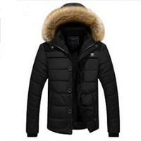 """Adidas"" Women Men Fashion Hoodie Long Sleeve Cardigan Bread Down Coat Cotton-padded Clothes Jacket Windbreaker Thick Black"