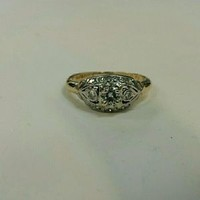 Engagement ring gold 14K Diamond Ring Appraisal Vintage Size 7.5  jewelry ring