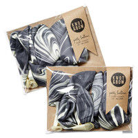 Marbled Balloons, Black/White, Set of 16, Gift Bags & Boxes