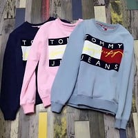 Tommy Jeans Fashion Long Sleeve Pullover Sweatshirt Top Sweater-4