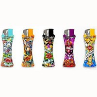 Ed Hardy 5-pack Curve Refillable Tattoo Lighters Design A