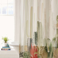 Cactus Landscape Shower Curtain - Urban Outfitters