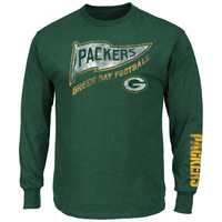 Majestic Green Bay Packers A Life Above Men's Dark Green Long Sleeve Shirt