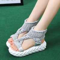 2019 Ladies Sandals Shoes Women Ladies Summer Fashion Platform Sandals Comfort Big Size Casual Shoes Zapatos De Mujer Sandalia