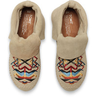 OXFORD TAN SUEDE TRIBAL EMBROIDERY WOMEN'S ZAHARA BOOTIES