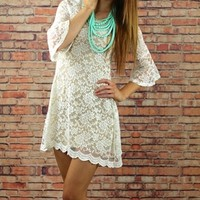 Ivory Juniors Vintage Lace Dress