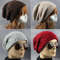 Wave Pattern Winter Knitted Hat