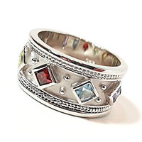 Princess Vintage Style Ring .925 Sterling Silver Cubic Zirconia r823s