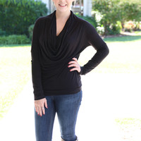 Solid Cowl Top - Black