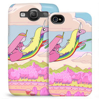 Adventure Time Princess Bubblegum and Lady Rainicorn Phone Case for iPhone and Galaxy |